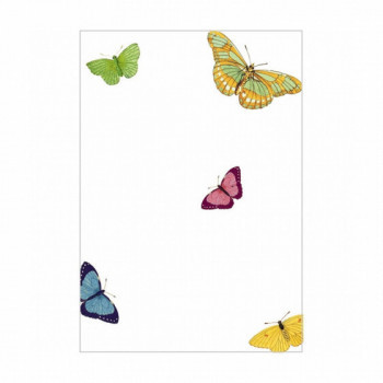 Set de 8 cartons d'invitation - papillons