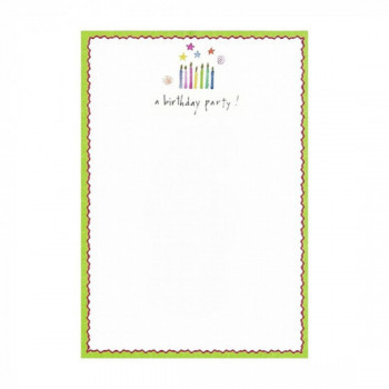 Set de 8 cartes d'invitation Birthday Party
