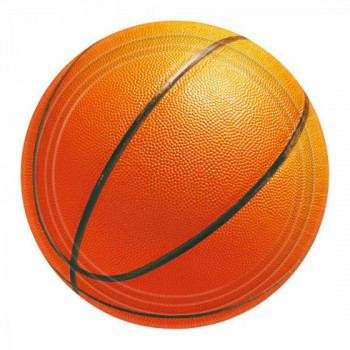 Set de 8 assiettes Basketball GM