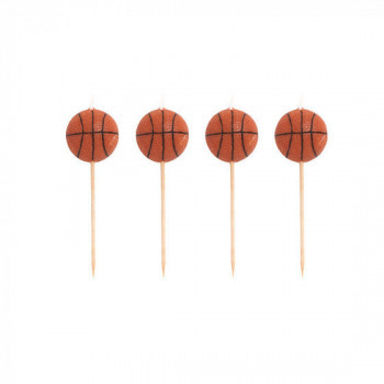 Set de 4 bougies Basketball