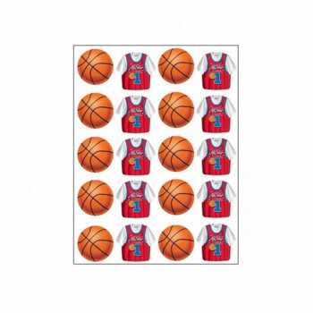 Set de 4 planches stickers Basketball