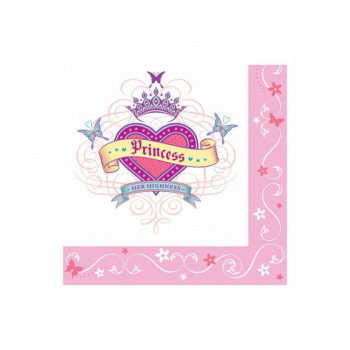 Set de 16 serviettes Princesse GM