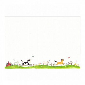 Set de 8 cartes d'invitation Animaux de la ferme