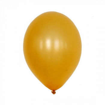 Sachet de 10 ballons latex - or nacré